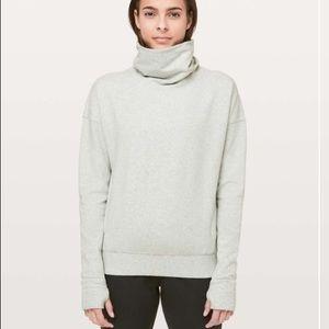 Lululemon Gray go forward pullover sweatshirt